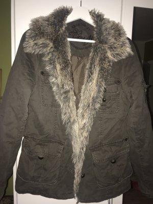 Fur Jacket green grey