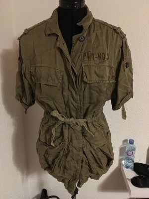 Bershka Military Jacket green grey
