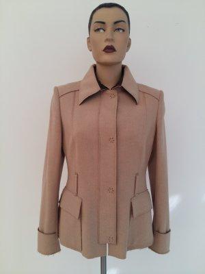 Carolina Herrera Wool Blazer beige merino wool