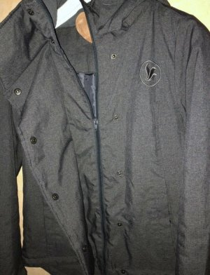 Veste à capuche gris foncé-gris anthracite