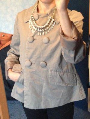Jacke A-Form Grau Größe 34 / H&M