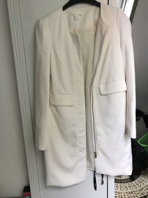 H&M Chaqueta tipo blusa blanco