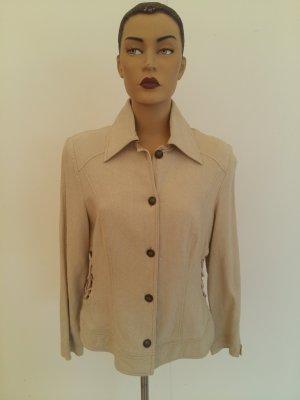 Long Jacket beige linen