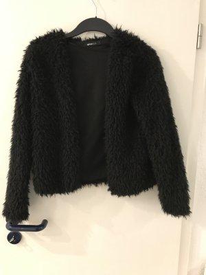 Gina Tricot Giacca di pelliccia nero