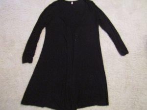 Sheego Veste longue noir tissu mixte