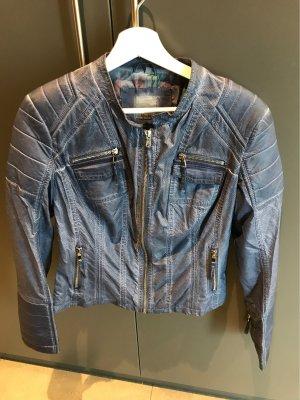 Alba Moda Giacca da motociclista blu scuro-blu-viola