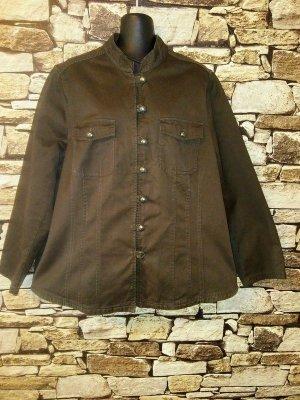 Jacke aus Baumwolle in braun Oversized-Cut