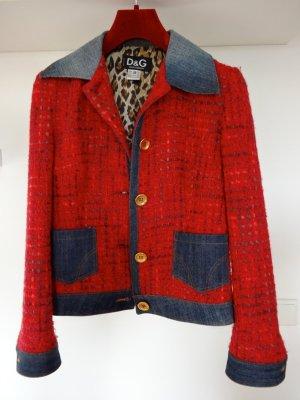 Jacke aus Jeans & Bouclé Mix von Dolce & Gabbana
