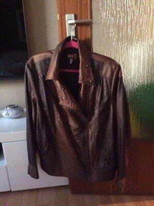 Jacke aus Kunst Leder Neu Gr 50