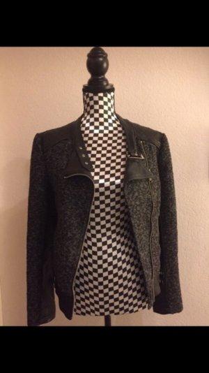Jacke aus Materialmix