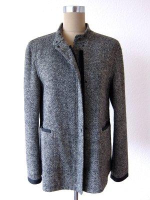 Strenesse Chaqueta de lana negro-blanco lana de esquila