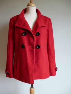 Marc Aurel Pea Jacket red-brick red new wool