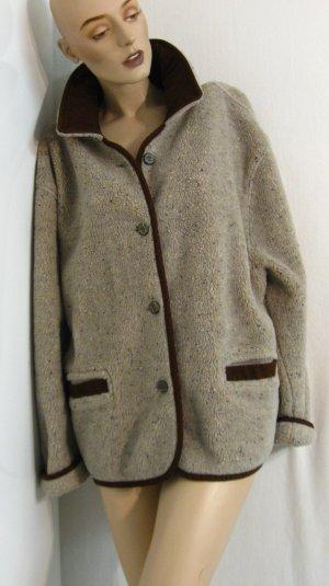 Jacke aus Teddystoff und Wildlederimitat