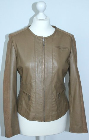 Leather Jacket sand brown leather