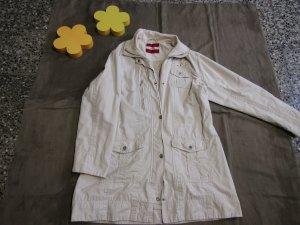 Cecil Chaqueta larga crema-beige claro tejido mezclado