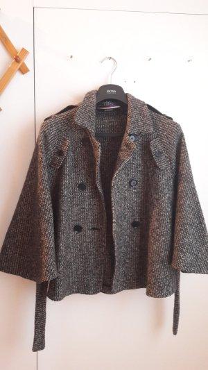 Marc Cain Veste en laine blanc cassé-marron clair laine
