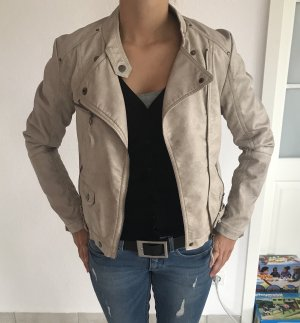 Faux Leather Jacket cream