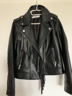 Mango Biker Jacket black