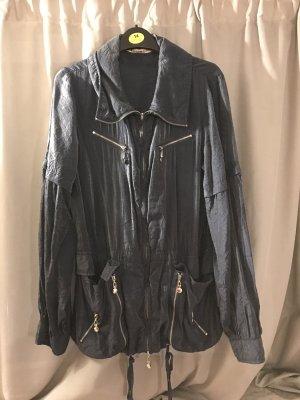 Jacke blau leicht transparent S 36
