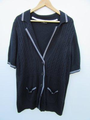 Vintage Pull à gosses mailles bleu foncé