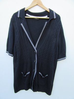 Jacke blau Strick Weste Vintage Retro Gr. 50
