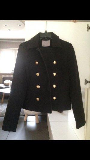 Vero Moda Pea Jacket black-gold-colored