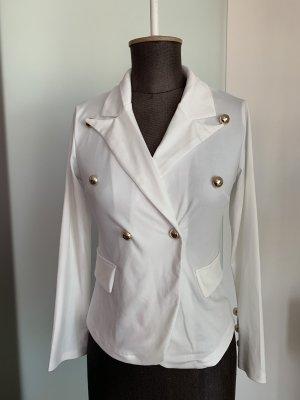 Jersey Blazer blanco-color oro