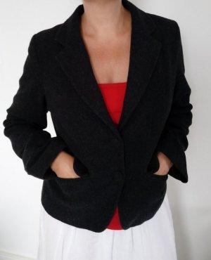 Jacke Blazer Sweatblazer Jacket Gr.M Grau MIt Wolle Schick