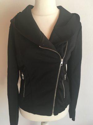 Jacke Blouson Blazer Jacket schwarz mit Kapuze Gr. L