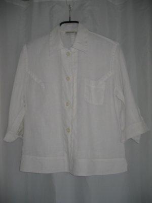 Jacke Bluse Blusenjacke Gr. 42 weiß SEIDENSTICKER