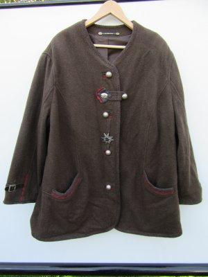 Jacke braun Tracht Vintage Retro Gr. 54 Wollmix