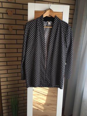 H&M Shirt Jacket black-white