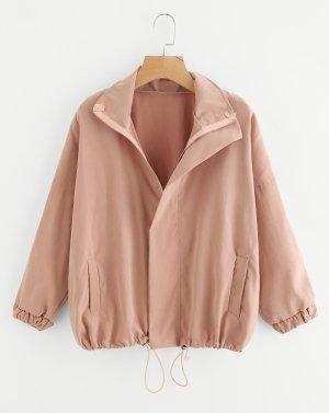 SheIn Oversized Jacket dusky pink