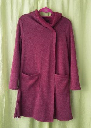 Amisu Giacca di lana rosso scuro Tessuto misto