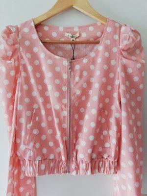 100% Fashion Veste courte rosé