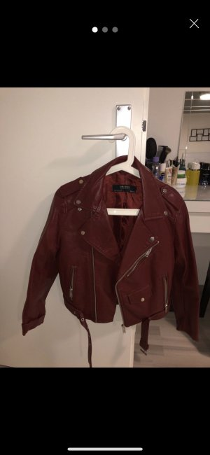 Zara Blazer in pelle bordeaux
