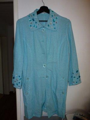Heine Long Jacket turquoise linen