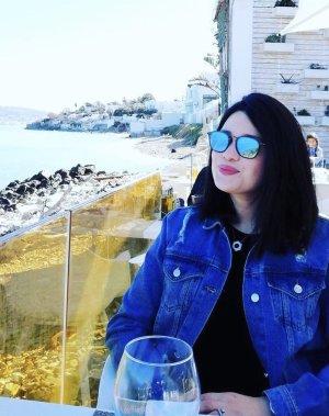 100% Fashion Veste en jean bleu acier