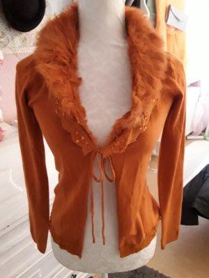 Veste chemise orange foncé