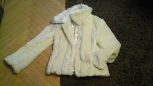 Jacke -Fake fur-Cremeweiss -Gr. S