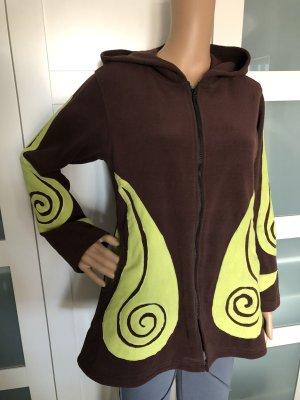 Fleece Jackets dark brown-meadow green