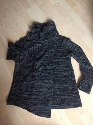 Gina Benotti Wraparound Jacket black-grey