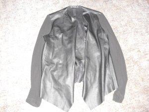Zara Basic Chaqueta negro Imitación de cuero