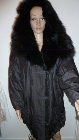 Long Jacket black fur