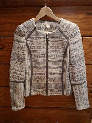 Jacke grau Inka Muster
