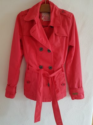 QS by s.Oliver Trench Coat red-raspberry-red