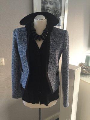 Jacke H&M Gr. 36 blau/schwarz/weiß
