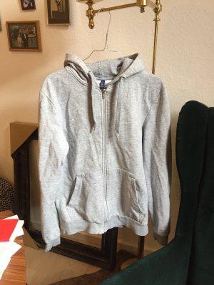 H&M Giacca con cappuccio grigio chiaro-bianco