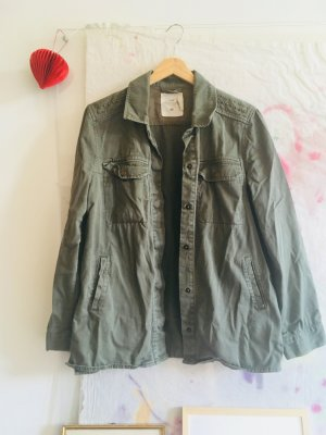 H&M Military Jacket green grey-olive green