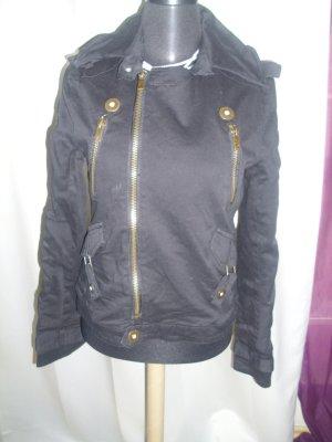 Jacke im Biker Style schwarz von Fishbone Größe M